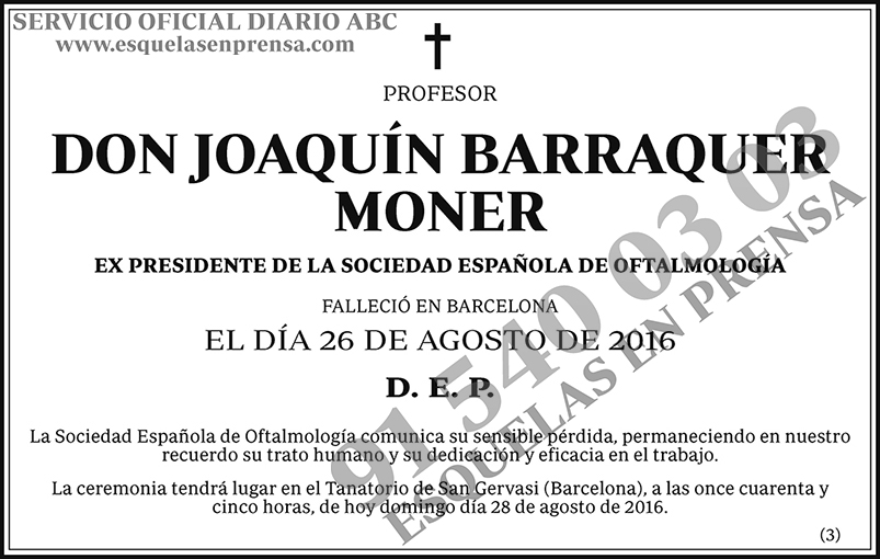 Joaquín Barraquer Moner